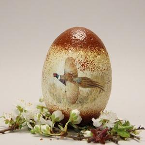 Húsvéti tojás Vadászoknak ; Ajándék tojás húsvétra fácán motívummal, Otthon & Lakás, Dekoráció, Dísztárgy, Decoupage, transzfer és szalvétatechnika, Meska