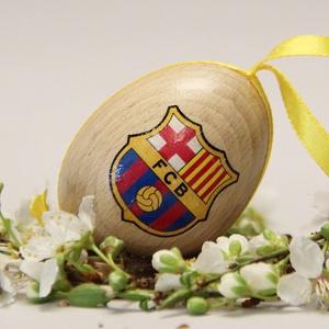 FC Barcelona húsvéti tojás ; Ajándék FC Barcelona rajongók részére , Otthon & Lakás, Dekoráció, Dísztárgy, Decoupage, transzfer és szalvétatechnika, Meska