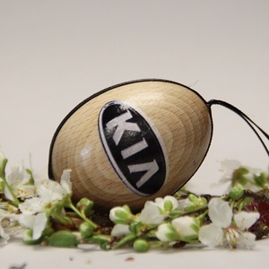 KIA húsvéti tojás ; Ajándék KIA rajongók részére , Otthon & Lakás, Dekoráció, Dísztárgy, Decoupage, transzfer és szalvétatechnika, Meska