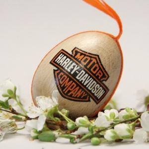 Harley-Davidson húsvéti tojás ; Ajándék Harley-Davidson rajongók részére , Otthon & Lakás, Dekoráció, Dísztárgy, Decoupage, transzfer és szalvétatechnika, Meska