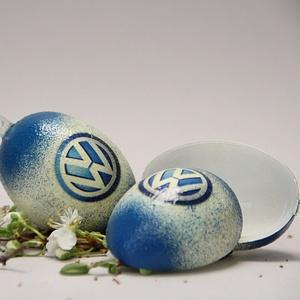 Volkswagen húsvéti tojás ; Ajándék Volkswagen rajongók részére világos, Otthon & Lakás, Dekoráció, Dísztárgy, Decoupage, transzfer és szalvétatechnika, Volkswagen húsvéti tojás ; Ajándék Volkswagen rajongók részére, műanyag szétszedhető\n\nIgazán egyedi ..., Meska