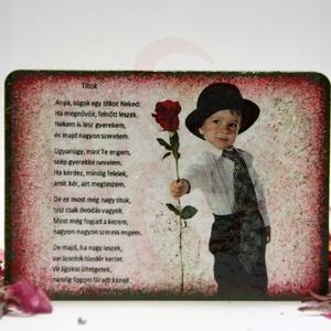"""Anyák napi HŰTŐMÁGNES: ANYA, MAMA - fényképpel, felírattal is - anyák napi ajándék édesanyáknak, Otthon & Lakás, Konyhafelszerelés, Hűtőmágnes, Decoupage, transzfer és szalvétatechnika, Anyák napi HŰTŐMÁGNES: ANYA, MAMA - fényképpel, felírattal is - anyák napi ajándék édesanyáknak \n\"""" T..., Meska"""