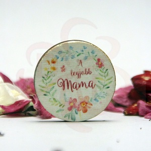 """Anyák napja HŰTŐMÁGNES - ANYA, MAMA - képpel, felírattal is , Otthon & Lakás, Konyhafelszerelés, Hűtőmágnes, Decoupage, transzfer és szalvétatechnika, Anyák napja HŰTŐMÁGNES \"""" A legjobb Mama! \"""" \nANYA, MAMA - saját képpel, felírattal is elkészítjük.\nEg..., Meska"""