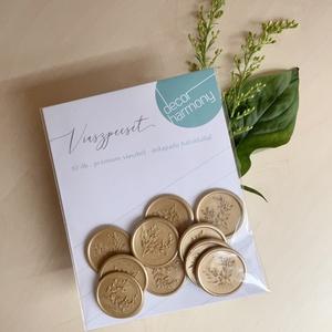 Viaszpecsét csomag - Arany eukaliptusz V001, Esküvő, Meghívó & Kártya, Meghívó, Mindenmás, Meska
