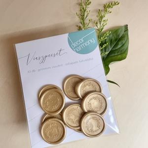 Viaszpecsét csomag - Arany vadvirág koszorú V006, Esküvő, Meghívó & Kártya, Meghívó, Mindenmás, Meska