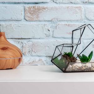 Terrárium Heart, Otthon & Lakás, Dekoráció, Virágtartó, Üvegművészet, Tiffany technikával készült üveg florárium. Tetszés szerint berendezhető pozsgás növényekkel, moháva..., Meska
