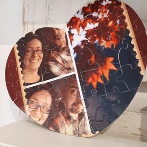 DeJó fényképes puzzle, Otthon & lakás, Dekoráció, Kép, Decoupage, transzfer és szalvétatechnika, Ez a szív alakú puzzle nagyon kedves és ötletes ajándék szeretteidnek.Még gyerkőcnek is ideális, mer..., Meska