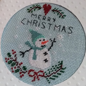 Karácsonyi hímzett képeslap, Otthon & lakás, Naptár, képeslap, album, Képeslap, levélpapír, Ajándékkísérő, Dekoráció, Ünnepi dekoráció, Karácsonyi, adventi apróságok, Ajándékkísérő, Hímzés, Hímzéssel készült képeslap 15x10,5 cm. Igazi különleges emlék lehet bárki is kapja ajándékba. ..., Meska