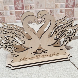 Egyedi gravírozott szalvéta tartó - akár esküvői ajándéknak, dekorációnak (dekorkiraly) - Meska.hu