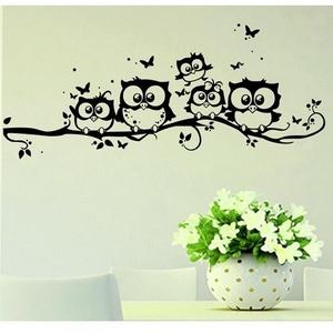 Bagolycsalád pillangókkal, falmatrica, Dekoráció, Otthon & lakás, Falmatrica, Lakberendezés, Fotó, grafika, rajz, illusztráció, Mindenmás, Bagolycsalád pillangókkal, falmatrica\n\nA falmatricát több méretben és 48 színben kérheted.\nA színmin..., Meska