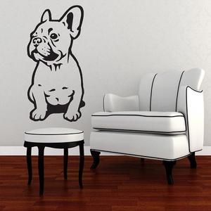 Bulldog, falmatica, Dekoráció, Otthon & lakás, Falmatrica, Lakberendezés, Fotó, grafika, rajz, illusztráció, Mindenmás, Bulldog, falmatrica\n\nA falmatricát több méretben és 48 színben kérheted.\nA színmintát a képek között..., Meska