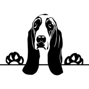 Basset Hound autómatrica, Dekoráció, Otthon & lakás, Falmatrica, Lakberendezés, Fotó, grafika, rajz, illusztráció, Mindenmás, Basset Hound autómatrica\n\nA matricát több méretben és 100 színben kérheted.\nA színmintát a képek köz..., Meska