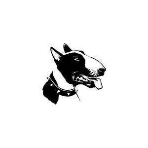 Bull terrier autómatrica, Dekoráció, Otthon & lakás, Falmatrica, Lakberendezés, Fotó, grafika, rajz, illusztráció, Mindenmás, Bull terrier autómatrica\n\nA matricát több méretben és 100 színben kérheted.\nA színmintát a képek köz..., Meska