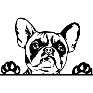 Francia bulldog (1) autómatrica, Dekoráció, Otthon & lakás, Falmatrica, Lakberendezés, Fotó, grafika, rajz, illusztráció, Mindenmás, Francia bulldog (1) autómatrica\n\nA matricát több méretben és 100 színben kérheted.\nA színmintát a ké..., Meska