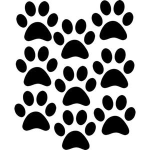 Kutyatappancsok autómatrica, Dekoráció, Otthon & lakás, Falmatrica, Lakberendezés, Fotó, grafika, rajz, illusztráció, Mindenmás, Kutyatappancsok autómatrica\n\nA matricát több méretben és 100 színben kérheted.\nA színmintát a képek ..., Meska