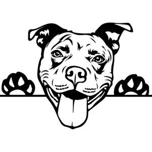 Amerikai pit bull autómatrica, Dekoráció, Otthon & lakás, Falmatrica, Lakberendezés, Fotó, grafika, rajz, illusztráció, Mindenmás, Amerikai pit bull autómatrica\n\nA matricát több méretben és 100 színben kérheted.\nA színmintát a képe..., Meska