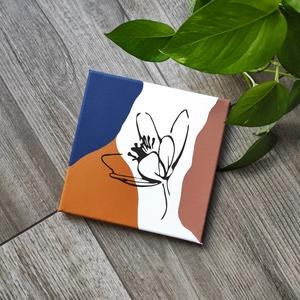 Absztrakt virág vászonkép, Otthon & lakás, Dekoráció, Lakberendezés, Ünnepi dekoráció, Falikép, Fotó, grafika, rajz, illusztráció, Festészet, A kép jó minőségű, keretre feszített vászonra készül, mely közvetlenül falra akasztható. A mintát ké..., Meska