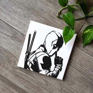 Deadpool vászonkép, Otthon & lakás, Dekoráció, Lakberendezés, Falikép, Kép, Fotó, grafika, rajz, illusztráció, Festészet, A kép jó minőségű, keretre feszített vászonra készül, mely közvetlenül falra akasztható. A mintát ké..., Meska