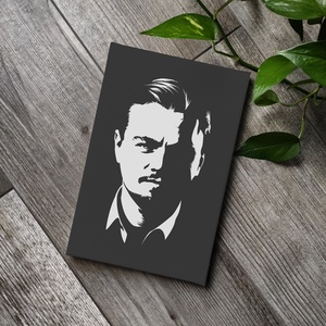Leonardo DiCaprio vászonkép, Kép & Falikép, Dekoráció, Otthon & Lakás, Fotó, grafika, rajz, illusztráció, Festészet, A kép jó minőségű, keretre feszített vászonra készül, mely közvetlenül falra akasztható. A mintát ké..., Meska