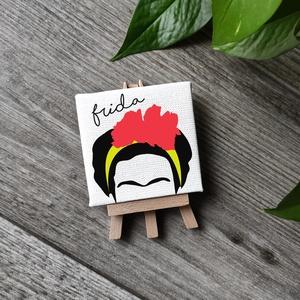 Frida Kahlo vászonkép, Kép & Falikép, Dekoráció, Otthon & Lakás, Fotó, grafika, rajz, illusztráció, Festészet, A kép jó minőségű, keretre feszített vászonra készül, mely közvetlenül falra akasztható. A mintát ké..., Meska