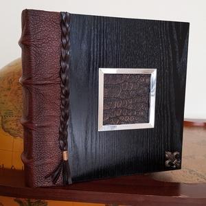 Luxury wood ébenfa album, Naptár, képeslap, album, Otthon & lakás, Fotóalbum, Bőrművesség, Luxury albumom megtestesíti az eleganciát, kézbevenni azt egy megismételhetetlen esemény történetéve..., Meska