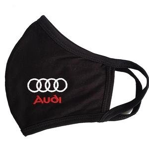 Fekete pamut Audi  felnőtt szájmaszk, maszk, , Maszk, Arcmaszk, Hímzés, Varrás, A szájmaszk fekete Audi kétrétegű pamutból készült, fehér gépi hímzéssel.\nKívül tökéletesen illeszke..., Meska