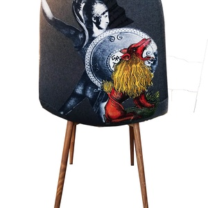 oroszlános SZÉK , Otthon & lakás, Bútor, Szék, fotel, Mindenmás, egyedi dizájnnal ellátott szék\na minta kézműves technikával kerül a szék háttámlájára\nha szeretnél v..., Meska