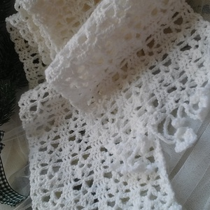 Fehér virágliget sál  (designbybercica) - Meska.hu