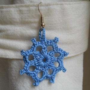 Horgolt fülbeveló, kék csillag (designedbylinda) - Meska.hu