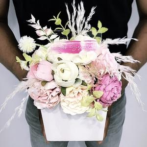 Anyák napi  Asztaldísz , Otthon & Lakás, Dekoráció, Dísztárgy, Kerámia, Kerámia kaspóba gyönyörű selyemvirágokat tettem \nA postaköltségek a mindenkori díjszabás szerintiek...., Meska