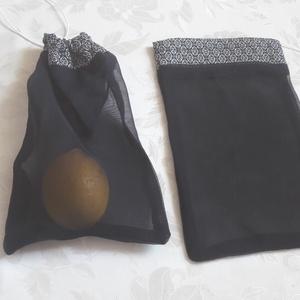 Rombusz mintás  szütyő, Zöldség/Gyümölcs zsák, Bevásárlás & Shopper táska, Táska & Tok, Varrás, Szütyő bevásárláshoz.\nEz a csomag, 2db, egyforma szütyőből áll. Alul sötétkék, átlátszó függöny anya..., Meska