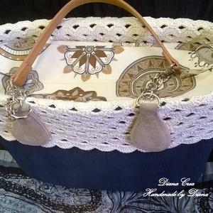 Krém színű, csipkés O bag gallér (Diana3021) - Meska.hu
