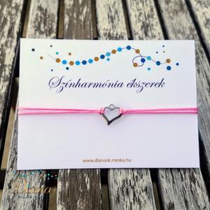 Színharmónia karkötő gyönggyel - Rózsaszín - Meska.hu