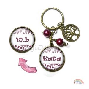 Névre szóló kulcstartó iskolás lányoknak, kulcstartó kétoldalas medállal, személyes ajándék nőknek, neves medál, suli , Egyéb, Táska, Divat & Szépség, Kulcstartó, táskadísz, Ékszer, Mobilékszer, Ékszerkészítés, Fotó, grafika, rajz, illusztráció, Egyedi, névre szóló kulcstartó kétoldalas medállal. \nKiváló ajándék lehet iskolások, egyetemisták sz..., Meska