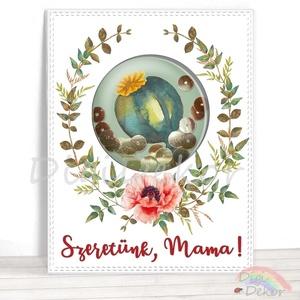 Pipacsos képeslap nagymamának, ajándék anyák napjára mamának, flitteres rázható képeslap, nagyi, unokák, shaker card, Naptár, képeslap, album, Otthon & lakás, Képeslap, levélpapír, Ajándékkísérő, Fotó, grafika, rajz, illusztráció, Papírművészet, Saját szerkesztésű, kézzel készített, ún. shaker (rázható) képeslap. \nKiváló ajándékkísérő, vagy apr..., Meska