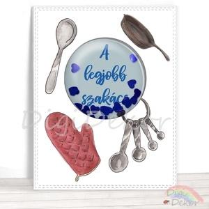 Vicces ajándék férfiaknak, a legjobb szakács, rázható képeslap apának, nagypapának, főzés, konyha, séf, shaker kártya , Férfiaknak, Konyhafőnök kellékei, Otthon & lakás, Naptár, képeslap, album, Fotó, grafika, rajz, illusztráció, Papírművészet, Saját szerkesztésű, kézzel készített, ún. shaker (rázható) képeslap. \nKiváló ajándékkísérő, vagy apr..., Meska