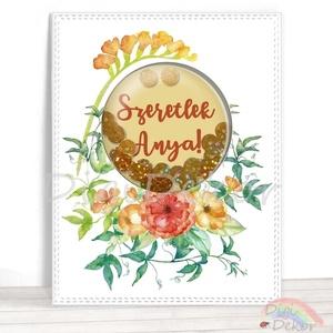 Szeretlek, Anya! Egyedi képeslap anyák napjára, üdvözlőlap anyának, kézzel készített képeslap, akvarell, flitter, Naptár, képeslap, album, Otthon & lakás, Képeslap, levélpapír, Anyák napja, Ünnepi dekoráció, Dekoráció, Fotó, grafika, rajz, illusztráció, Papírművészet, Saját szerkesztésű, kézzel készített, ún. shaker (rázható) képeslap. \nKiváló ajándékkísérő, vagy apr..., Meska
