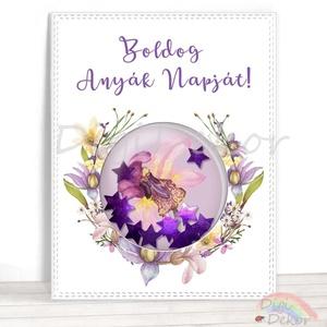 Boldog Anyák napját! Kézzel készített ajándékkísérő anyák napjára, ajándék anyának, édesanyának, orchideás képeslap, Otthon & lakás, Naptár, képeslap, album, Képeslap, levélpapír, Dekoráció, Ünnepi dekoráció, Anyák napja, Fotó, grafika, rajz, illusztráció, Papírművészet, Saját szerkesztésű, kézzel készített, ún. shaker (rázható) képeslap. \nKiváló ajándékkísérő, vagy apr..., Meska