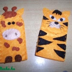 Ujjbábkészlet vadon élő állatok 2. (dikoka) - Meska.hu