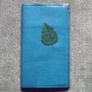 Zöldleveles kék notesz - Meska.hu