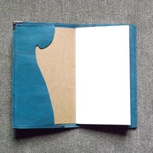 Zöldleveles kék notesz - otthon & lakás - papír írószer - jegyzetfüzet & napló - Meska.hu