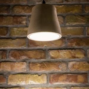 Egyedi beton lámpa, függesztett, Fali & Mennyezeti lámpa, Lámpa, Otthon & Lakás, Szobrászat, Kézzel készített, egyedi, harang formájú beton lámpa, mennyezeti függesztővel.\nKizárólag rendelésre...., Meska