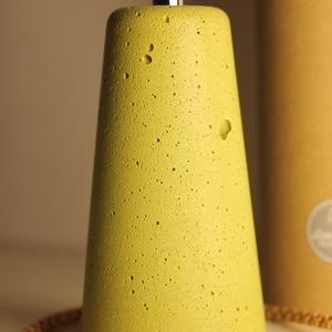 Design színes betonlámpa  most ajándék LED izzóval !, Lakberendezés, Otthon & lakás, Lámpa, Fali-, mennyezeti lámpa, Szobrászat, Design betonlámpa a legkülönlegesebb színekben.\nBármilyen színben rendelhető !\nAnyagában színezve, v..., Meska