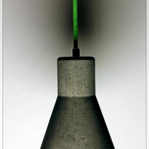 design beton függesztett lámpa IDEIGLENESEN NEM RENDELHETŐ !, Otthon & lakás, Lakberendezés, Lámpa, Fali-, mennyezeti lámpa, Legújabb dimilight design lámpa, szín tiszta betonból. Egyedi darabok. Anyagában választható színezé..., Meska
