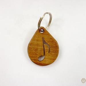 Hangjegy mintájú faragott kulcstartó, ajándék zenetanárnak, Egyéb, Táska, Divat & Szépség, Kulcstartó, táskadísz, Famegmunkálás, Zenészeknek, zenebarátoknak, zenetanároknak való mutatós, vicces ajándék.\n\nFából faragott kulcstartó..., Meska