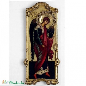 Gábriel arkangyal, Művészet, Más művészeti ág, Festészet, Szobrászat, Barokk keretes angyal angyal,52x24cm.\nEgy általunk készített triptichon része. A barokk a magyarorsz..., Meska