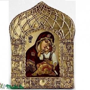 jahromai madonna, Kerámia, Szobor, Művészet, Festészet, Szobrászat, A hagyomány szerint az orvos-festő Lukács evangelistának adatott meg a lehetöség, hogy megfesse Szűz..., Meska