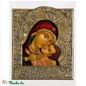 Korsuni madonna, Olajfestmény, Festmény, Művészet, Festészet, Szobrászat,  A Mária gyermekkel ábrázolások közül ez egy eleusza típusú ikon, ahol a gyermek az anyjához simul. ..., Meska