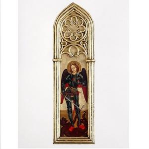 Szent Mihaly arkangyal, Képzőművészet, Otthon & lakás, Festmény, Szobor, Festészet, Szobrászat, Ez az alkotas egy ugynevezett gotikus tablakep. Bizonyos Vincenzo Foppa muve alapjan keszult. Ez a f..., Meska