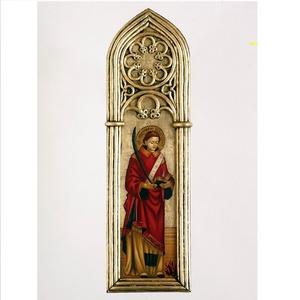 Szent Istvan,  az elso  szent, Képzőművészet, Otthon & lakás, Festmény, Szobor, Festészet, Szobrászat, Ez az alkotas egy ugynevezett gotikus tablakep. Bizonyos Vincenzo Foppa muve alapjan keszult. Ez a f..., Meska